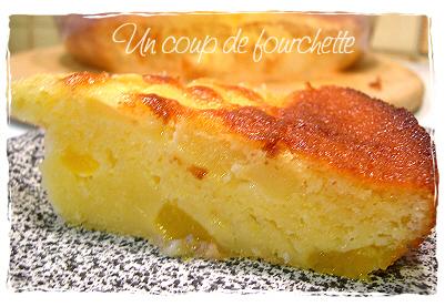 Gâteau aux yaourts pommes/abricots à notre façon